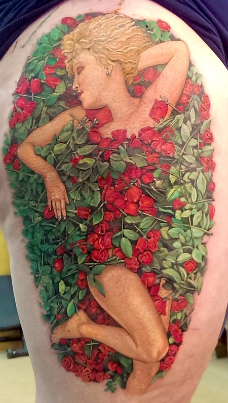 Tattoos - Bette in a Bed of Roses - 100766
