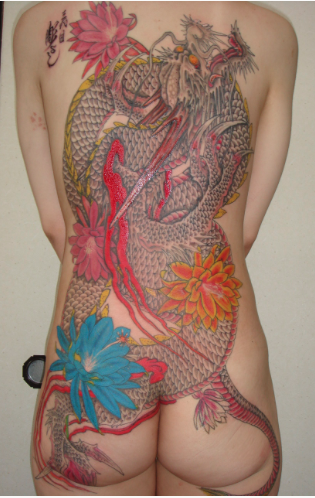 Tattoos - Traditional Dragon Backpiece - 102064
