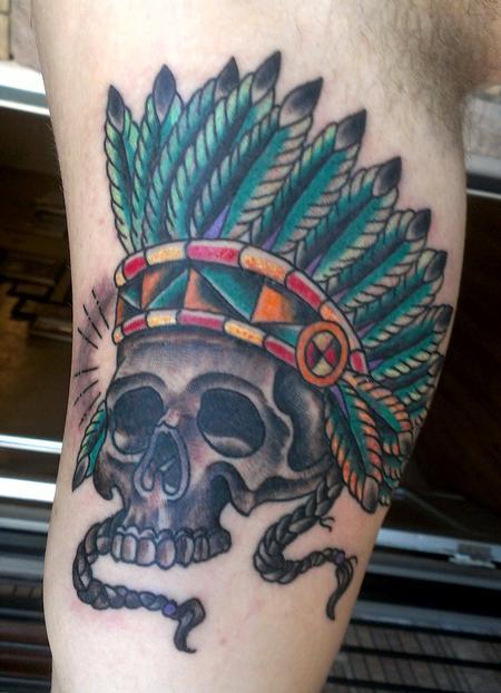 Skull Headdress Tattoo Design