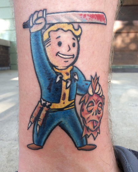 Fallout Character Tattoo Design