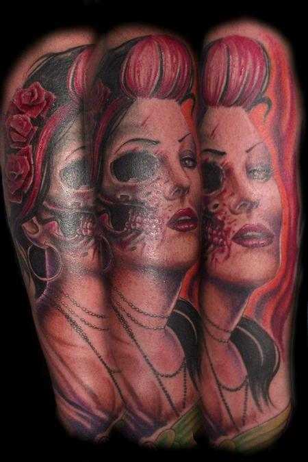 Color Portrait Tattoo Tattoo Design