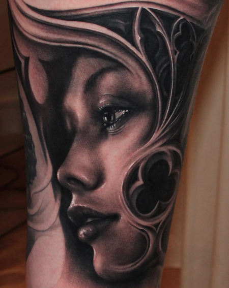 Woman's Face Tattoo Design