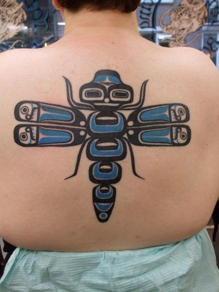 Tribal Dragonfly Tattoo Tattoo Design
