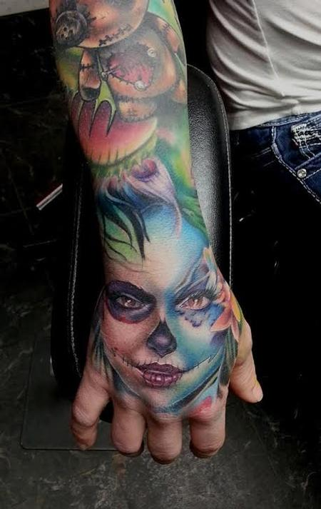 Clown Woman Tattoo Design