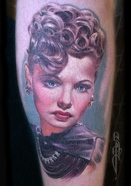 Healed colour portrait Tattoo Design