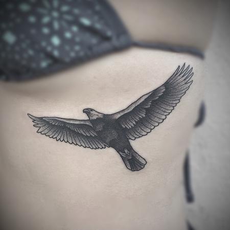stipple eagle  Tattoo Design
