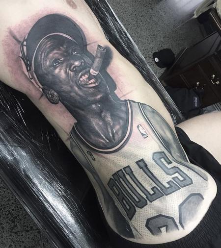 Tattoos - michael jordan portrait tattoo - 116260
