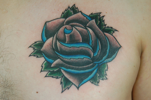 Old school rose Tattoo Design