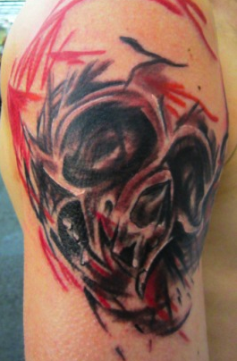Custom Skull Tattoo Tattoo Design