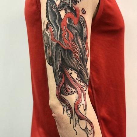 Demon fox tattoo Tattoo Design