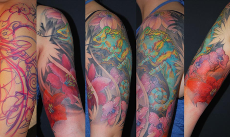 Color Chameleon Tattoo Tattoo Design