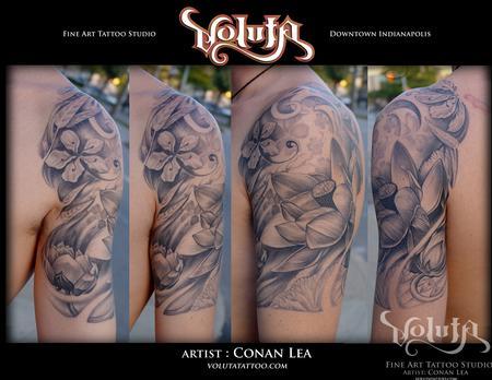 Tattoos - Deep Lotus Tattoo - 75879