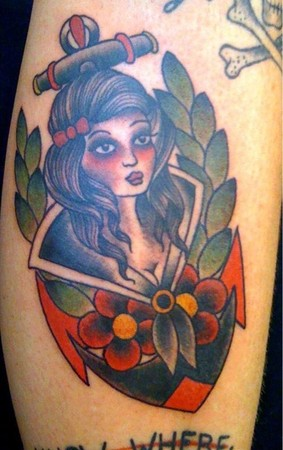 Traditional girl tattoo Tattoo Design