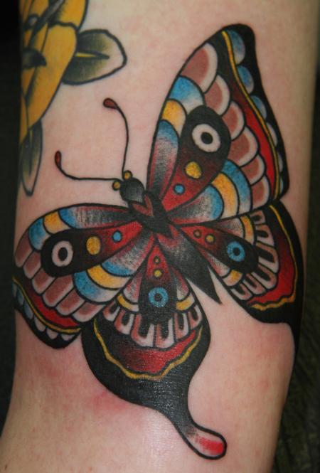 Traditional Butterfly Tattoo Tattoo Design