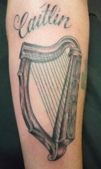 Harp Tattoo Tattoo Design