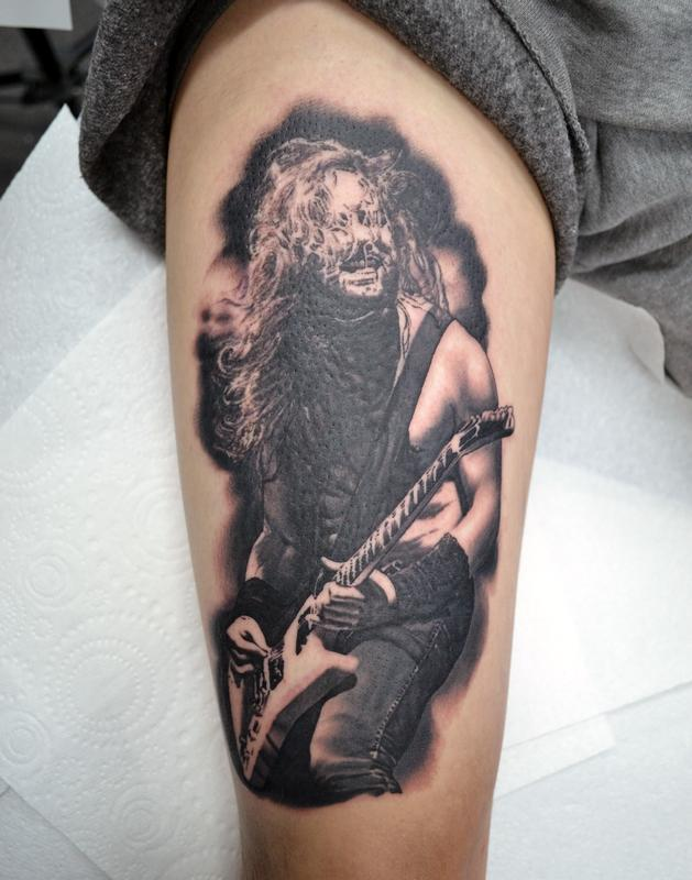 Tattoos by Alan Aldred  Tattoos  Misc  James Hetfield