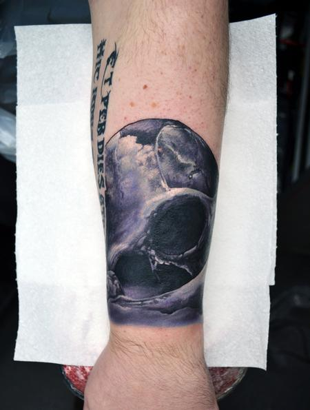 Tattoos - Post-Apocalyptic Skull - 125146