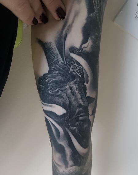 Alan Aldred - Healed Baphomet Tattoo