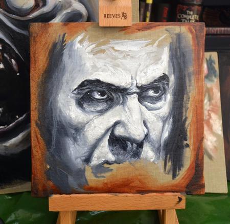 Tattoos - Bela Lugosi Oil Portrait - 113994