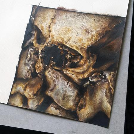 Tattoos - Paris Catacombs Pencil Drawing - 117353