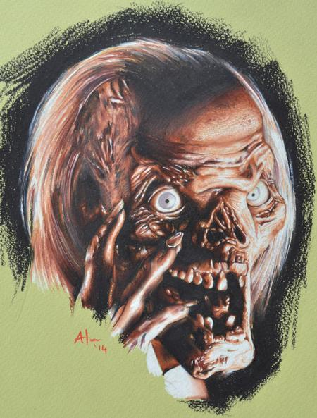 Tattoos - Coloured Pencil Crypt Keeper Drawing - 99112