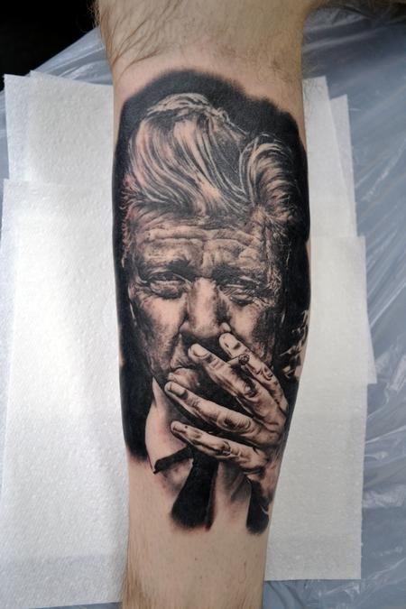 Alan Aldred - David Lynch Portrait Tattoo
