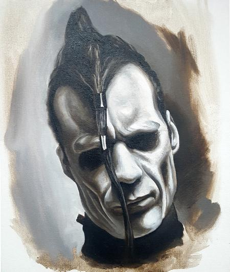 Alan Aldred - Doyle -Misfits Oil Painting