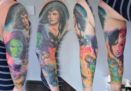 Alan Aldred - Female Superhero Sleeve