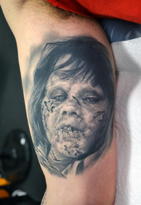 Alan Aldred - Healed Exorcist Portrait Tattoo