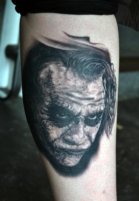Tattoos - Healed Joker Portrait - 126145