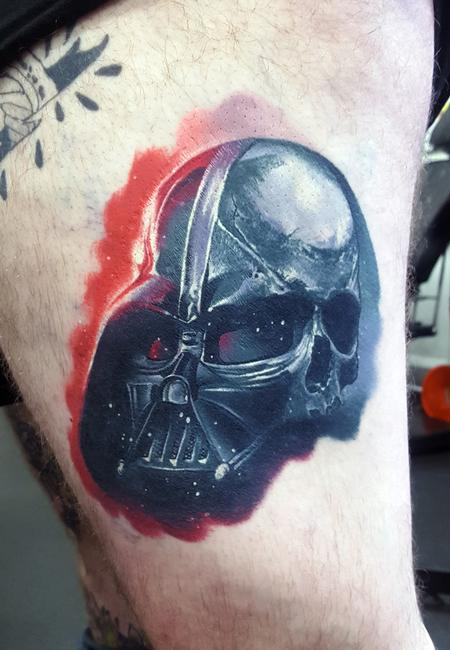 Tattoos - Healed Darth Vader Tattoo - 121765