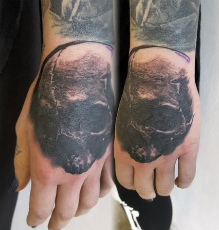 Tattoos - Skull Hand Tattoo - 125808