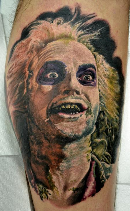 Tattoos - Beetlejuice Colour Portrait - 99104