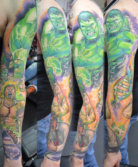 Tattoos - Transforming Incredible Hulk Sleeve Marvel  - 104345