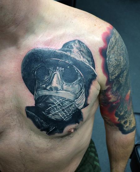 Alan Aldred - Invisible Man Portrait Tattoo