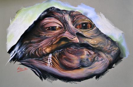 Tattoos - Jabba The Hutt Star Wars Portrait - 111818