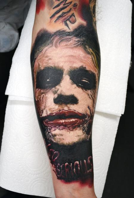 Tattoos - Heath Ledger Forearm Portrait Tattoo - 127316
