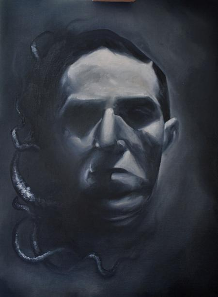 Tattoos - H P Lovecraft Oil Painting - 111866
