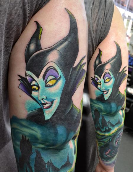 Tattoos - Maleficent, Part on Ongoing Sleeve - 114870
