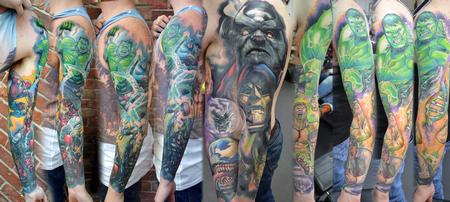 Tattoos - Marvel Sleeve Tattoo Montage - 123599