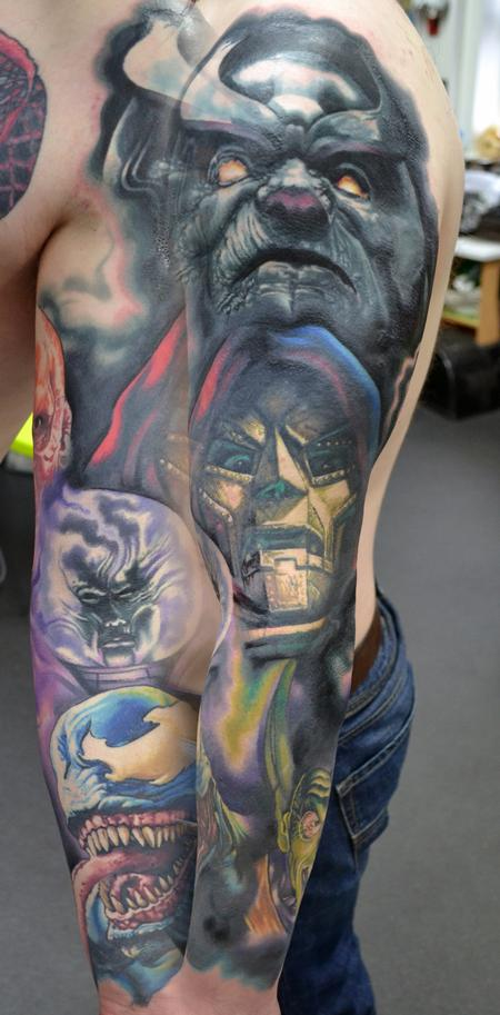 Tattoos - Marvel Villains Sleeve. - 108012