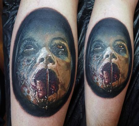 Tattoos - Bloody Evil Dead Portrait - 115458
