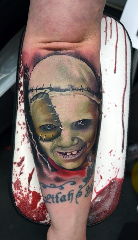 Tattoos - Facepaint Portrait Tattoo - 115976