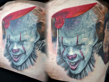 Tattoos - Pennywise IT Stomach Portrait  - 131701