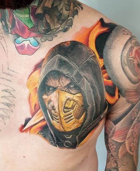 Alan Aldred - Scoprion Mortal Kombat Chest Piece