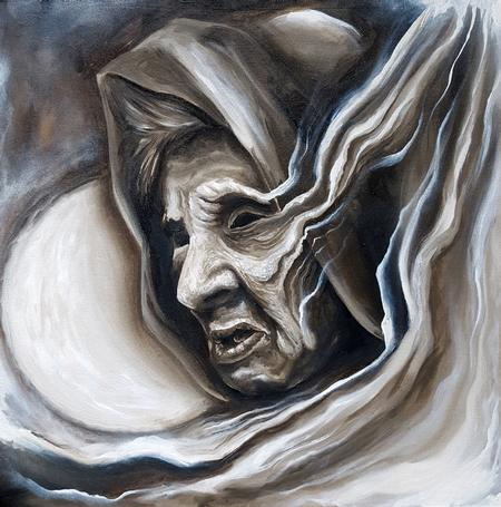 Tattoos - The Watcher Oil Painting - 116485