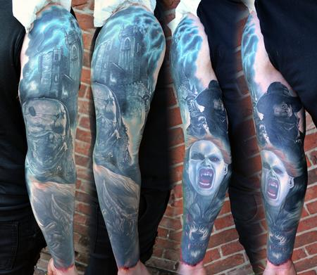 Alan Aldred - Van Helsing Sleeve Tattoo