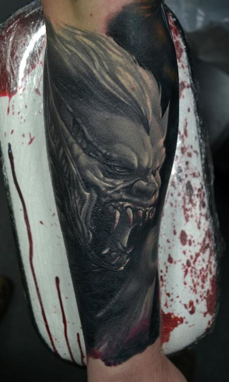 Tattoos - HEALED Vampire Monster Tattoo - 113588