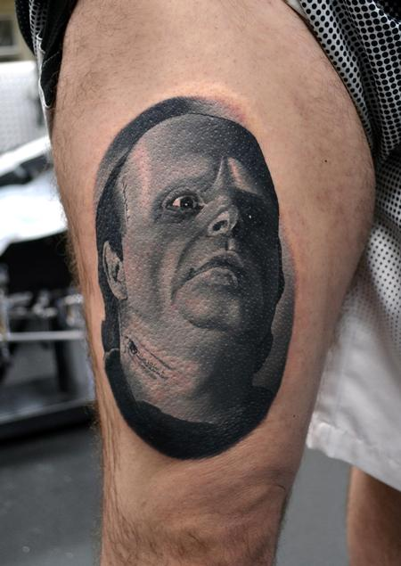 Alan Aldred - Young Frankenstein Portrait Tattoo
