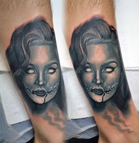 Tattoos - Zombie Chick Tattoo - 114059